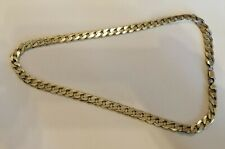 Men's Very heavy Sterling silver curb link necklace - 74.7 gms