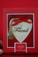 Lenox Expressions From The Heart Ornament w/Flower Dangle