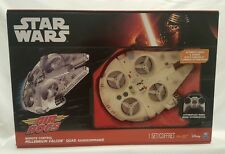 Air Hogs Star Wars Millennium Falcon Quad Radio Controlled Drone Remote Lamps