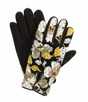 Vera Bradley Quilted Winter Gloves - Dogwood Women's Size S M S/M Black Yellow