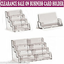 Business cards ebay new landscape acrylic business card holders desktop dispensers display stands colourmoves Images
