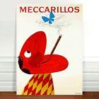 "Vintage Cigarette Advertising Poster Art ~ CANVAS PRINT 8x12"" Meccarillos"