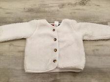 (S53k) Carters White Fleece 9 Month Cardigan