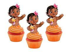 Baby Moana cakepop/cupcake toppers 24pcs (not edible)