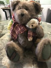 Boyds Bears Plush Bear of the Month Russell Bear w/ Scarecrow Le New