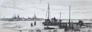 Kliefert, Erich/1893Berlin–1994Stralsund/Blick v. Anleger in Altefähr -Stralsund