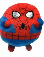 Spider-man Ty Beanie Pillow Buddy Plush Round Jumbo Marvel 2012 Red Blue 12x12