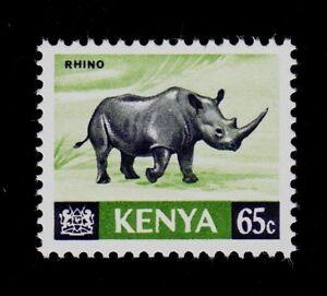 KENYA SCOTT# 27 MNH    ANIMAL TOPICAL, BLACK RHINOCEROS