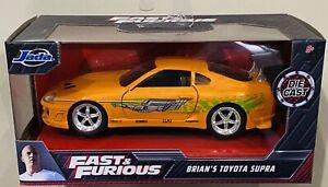 Jada Fast & Furious Brian's Toyota Supra Orange 1/32 die cast Car