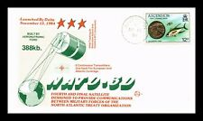 DR JIM STAMPS NATO 3D SATELLITE LAUNCH SPACE EVENT COVER 1984 ASCENSION