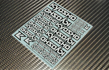 Kyosho Logo Dekorbogen Aufkleber 210mm x 235mm  Ersatzteilnummer 36276