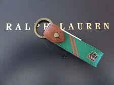 Polo RALPH LAUREN Green SilkTie Key Chain Keychain Key Ring FOB