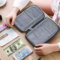 Travel Wallet Document Organizer Passport Holder ID  Bag Case Wallet LD