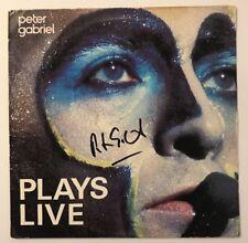Peter Gabriel Signed Plays Live  LP Vinyl JSA # Q64036 Autograph