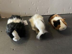 Guinea Pig Plush Stuffed Animal Lot Realistic 1 Hansa Creation, 1 Douglas, 1 Uni