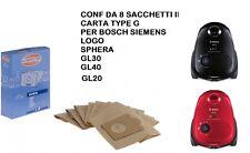 10 Sacchetto per aspirapolvere per Bosch BSGL 32400 gl-30 2400w