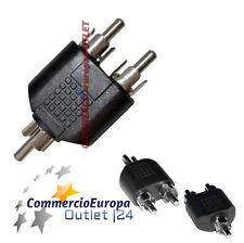 Spinotto Audio RCA 1 Maschio a 2 Maschio Mono Stereo per Cavo F - F Sdoppiatore
