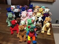BEANIE BABIES LOT OF 32 ALL BEARS