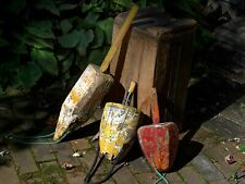 3 Antique Maine Lobster Trap Buoys (L59)