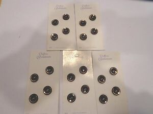 Lot 5 Cards of 4 Black Gold Edged Buttons by Schwanda USA Seller Sewing Crafts