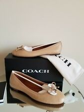 Coach Lola Ballet Flat Nude Beechwood Leather Size 9,5