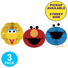 SESAME STREET PARTY SUPPLIES HONEYCOMB ELMO COOKIE MONSTER BIRTHDAY DECORATIONS