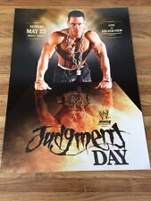WWE JUDGMENT DAY 2005 JOHN CENA / BACKLASH 2006 TRIPLE H 2 Sided Poster 12x16