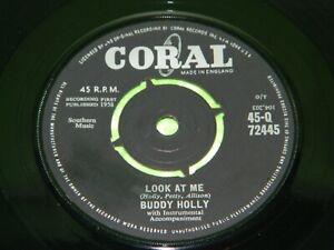 "BUDDY HOLLY : Look at me / Mailman, bring me no more blues -1961 UK 7"" VG/EX 218"