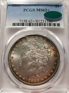 1885-P Morgan Silver Dollar PCGS MS62+ **CAC**Toned Beauty**