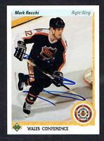 Mark Recchi #487 signed autograph auto 1990-91 Upper Deck Hockey Card