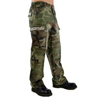 Tripp NYC mens large Pants Jeans Studded Green Camo Punk Goth Emo