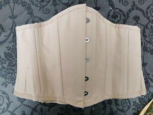 """Corset Story Beige Cotton Waspie Waist Training Underbust Corset Size 30"""""""