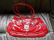CHARLIE LAPSON REPTILE PRINT LEATHER BAG new no tags