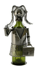 Wine Bodies Professional Business Lady Metal Wine Bottle Holder Character