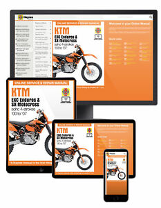 KTM EXC Enduro & SX Motocross (00 - 07) Haynes Online Manual