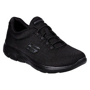 Skechers Summits - Quick Lapse  All Black Woman`s Trainer