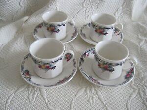 Royal Doulton Autumn's Glory Tea Cups and Saucers x 4