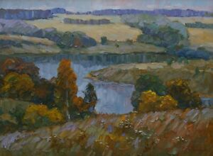 Original Far Horizonts Landscape Oil Painting Impressionism ART