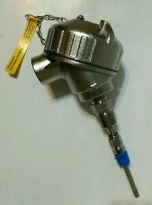 Pyromation R5T185L483-004-05B-8HN91 (1/5) Class B 3-Wire RTD Temperature Sensor