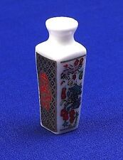Pretty Pot Vase , Dolls House Miniature, Chinese Oriental Design. 1/12 Scale