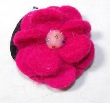 PINK GRINGO FAIR TRADE FELT FLOWER HIPPY BOHO BOBBLE / SCRUNCHIE NEPAL