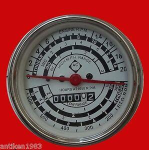 Tachometer fits Allis Chalmers D17 Diesel  - Clockwise