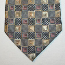 NEW Pierre Cardin Silk Neck Tie Gray with Gold and Purple Pattern 1425