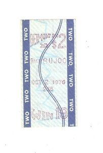 FOREGO GREATEST RACE MINT $2 WIN TICKET 1976 MARLBORO CUP SHOEMAKER 137 LBS.