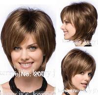 Reese By Noriko Wigs Straight Hair Wigs Fashion Short Dark Brown Women's Wig