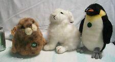 Lot 3 ICEBERG AUGIE Plush TUX RUX Penguin HENRI Arctic Hare SERAPHINA Seal