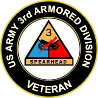 """Army 3rd Armored Division Veteran 5.5"""" Sticker 'Officially Licensed'"""