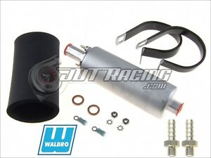 Genuine GSL392 Walbro TI 255LPH Inline High Pressure Fuel Pump w/ Install Kit