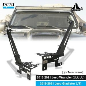 Fits For 2019-2021 Jeep Wrangler JL/JLU Gladiator A-Pillar Light Mount Bracket