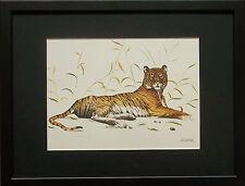 Joel Kirk print, Tiger framed wall art - 11''x14'' frame, Tiger by Joel Kirk